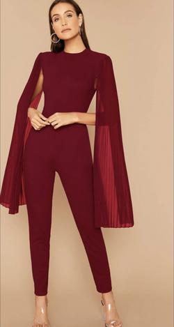 Red Size 4 Jumpsuit Dress on Queenly