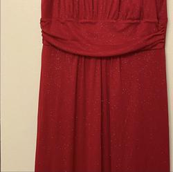 Enfocus Studio Red Size 12 Tall Height Shiny Straight Dress on Queenly
