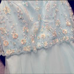 Mori Lee Blue Size 14 Medium Height Turquoise Plus Size Straight Dress on Queenly