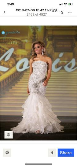 Sherri Hill Couture White Size 0 Pageant Sequin Mermaid Dress on Queenly