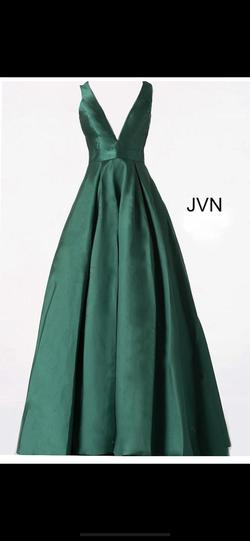 Jovani Green Size 2 Pockets Ball gown on Queenly