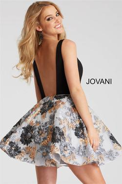 Jovani Black Size 00 Cocktail Backless Tulle A-line Dress on Queenly