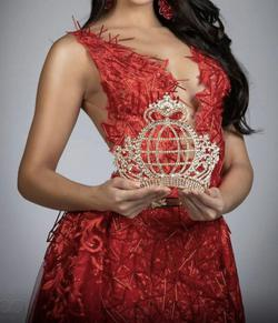 Custom made Red Size 4 Custom Ball gown on Queenly
