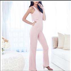 Antonio Melani Pink Size 6 Jumpsuit Dress on Queenly