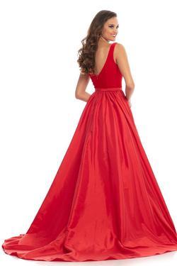 Johnathan Kayne Red Size 4 Velvet Train Dress on Queenly