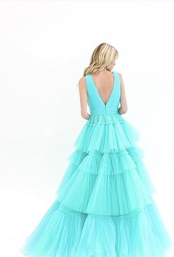Ashley Lauren Blue Size 0 Ball gown on Queenly