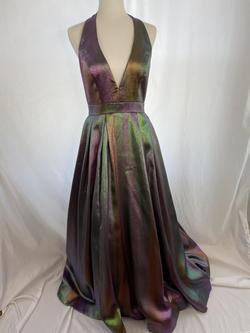 Mac Duggal Multicolor Size 4 Halter Ball gown on Queenly