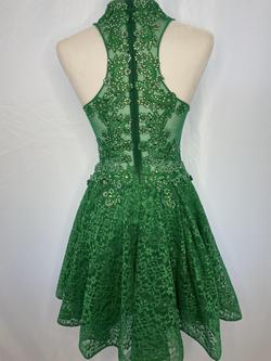 Shail K Green Size 4 Flare Sequin Jewelled Cocktail Dress on Queenly