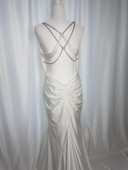 Alyce Paris White Size 10 Silk Jewelled Train Dress on Queenly