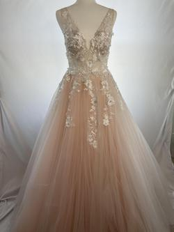 Jovani Pink Size 6 Floral Ball gown on Queenly