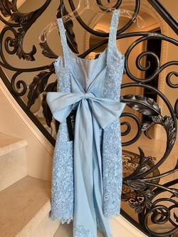 Sherri Hill Blue Size 0 Lace Cocktail Dress on Queenly