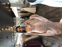 Jovani Pink Size 0 Rose Gold Mermaid Dress on Queenly