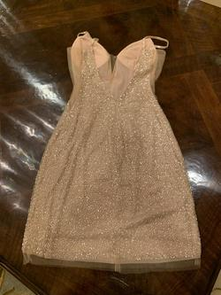Jovani Gold Size 6 Cocktail Dress on Queenly