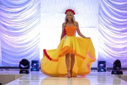 Tarik Ediz Yellow Size 2 Train Dress on Queenly