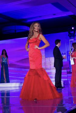Sherri Hill Red Size 2 Silk Tulle Mermaid Dress on Queenly