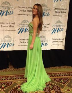 Sherri Hill Green Size 2 Strapless Pageant A-line Dress on Queenly