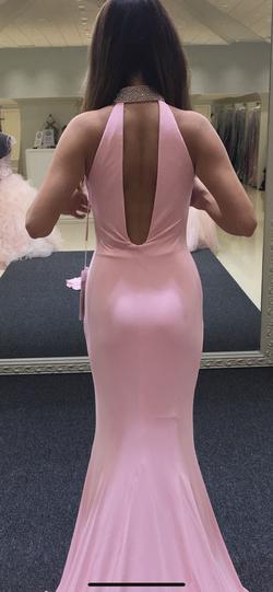 Jovani Pink Size 0 Silk Jersey Custom Side slit Dress on Queenly