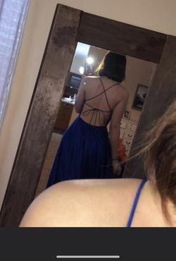 Sherri Hill Blue Size 0 Pockets Side slit Dress on Queenly
