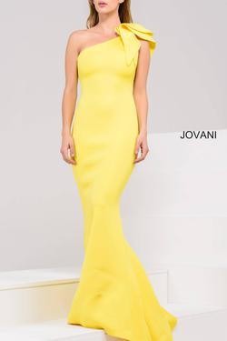 Jovani Yellow Size 2 Mermaid Dress on Queenly