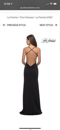 La Femme Blue Size 2 Side slit Dress on Queenly