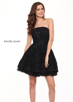 Style L1231 Rachel Allan Black Size 4 Homecoming Cocktail Dress on Queenly