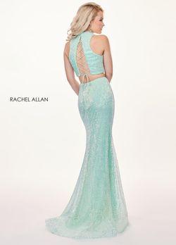 Style 6450 Rachel Allan Light Blue Size 0 Corset Mermaid Dress on Queenly
