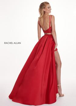 Style 6454 Rachel Allan Red Size 6 Prom Jumpsuit Dress on Queenly