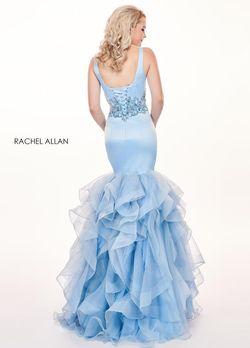 Style 6494 Rachel Allan Light Blue Size 6 Mermaid Dress on Queenly