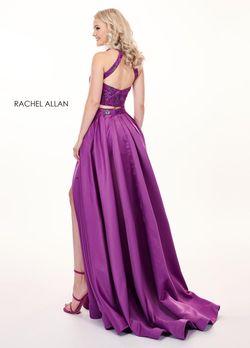 Style 6495 Rachel Allan Purple Size 6 Fun Fashion Violet Halter Jumpsuit Dress on Queenly