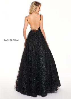 Style 6636 Rachel Allan Black Size 10 Pageant Prom Ball gown on Queenly