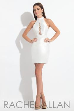 Style L1146 Rachel Allan White Size 4 Nightclub Cocktail Dress on Queenly