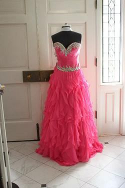 Johnathon Kayne Pink Size 8 Ball gown on Queenly