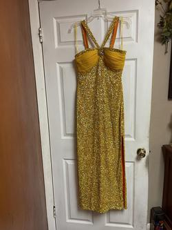 Scala Yellow Size 6 Side Slit Straight Dress on Queenly