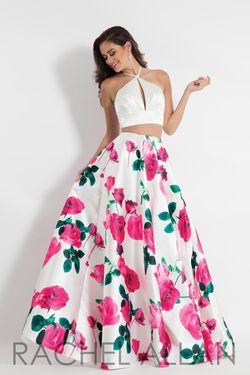 Style 6028 Rachel Allan Multicolor Size 10 A-line Dress on Queenly