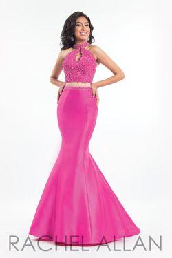 Style 6031 Rachel Allan Pink Size 10 Mermaid Dress on Queenly