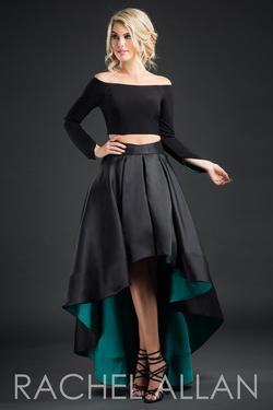 Style 8234 Rachel Allan Black Size 8 Homecoming Jersey Cocktail Dress on Queenly