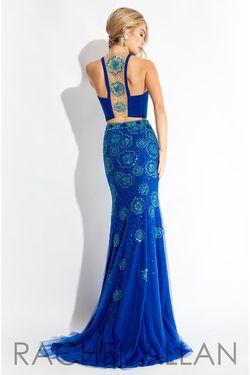 Style 7503 Rachel Allan Red Size 4 Jersey Mermaid Dress on Queenly