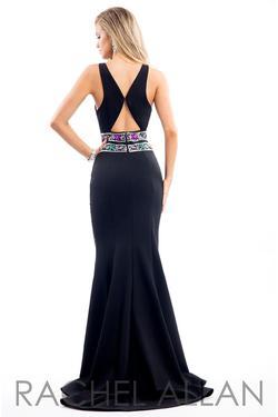 Style 7529 Rachel Allan Black Size 8 Jersey Mermaid Dress on Queenly
