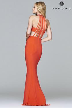 Style 7728 Faviana Orange Size 6 Straight Dress on Queenly