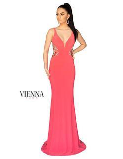 Style 8413 Vienna Orange Size 6 Coral Straight Dress on Queenly