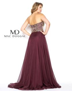 Style 65980 Mac Duggal Red Size 20 Plus Size Side slit Dress on Queenly