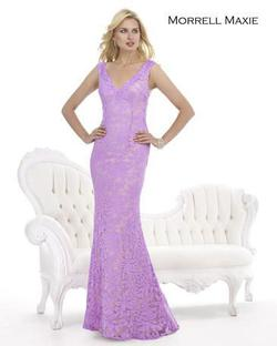 Style 14832 Morrell Maxie Purple Size 12 Plus Size Mermaid Dress on Queenly