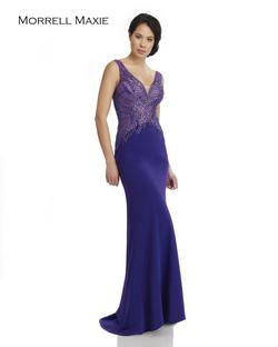 Style 15032 Morrell Maxie Purple Size 12 Plus Size Straight Dress on Queenly
